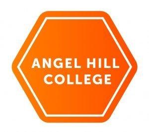 Angel Hill College logo, orange