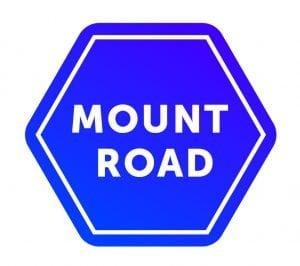 Mount Road logo, royal blue