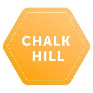 Chalk Hill logo, yellow