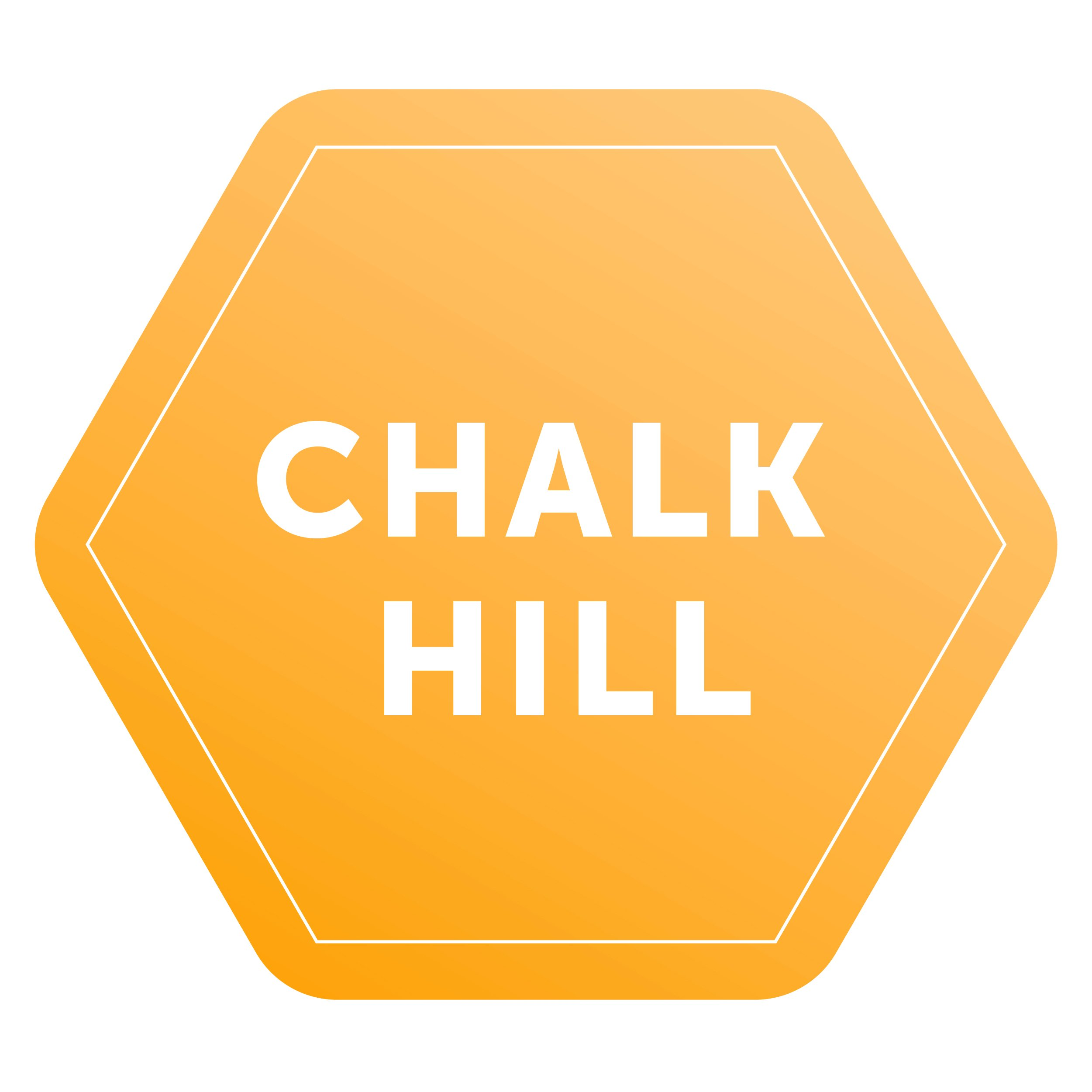 Chalk Hill logo, yellow